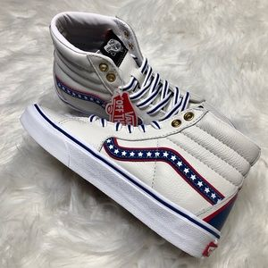 🇺🇸NEW!!! Vans Sk8 Hi High Top Leather USA Stars